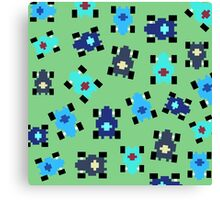 Pixel Car [blue] Canvas Print