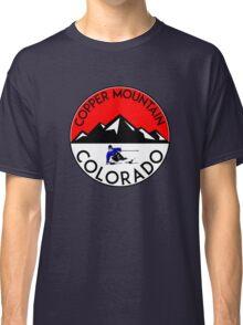 COPPER MOUNTAIN COLORADO Ski Skiing Mountain Mountains Skiing Skis Silhouette Snowboard Snowboarding Classic T-Shirt