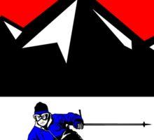 COPPER MOUNTAIN COLORADO Ski Skiing Mountain Mountains Skiing Skis Silhouette Snowboard Snowboarding Sticker
