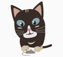 Cat with toy mouse   Kids Tee