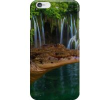 Crocodile partially under water iPhone Case/Skin