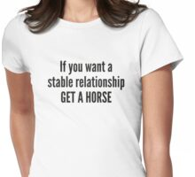 Get A Horse Womens Fitted T-Shirt