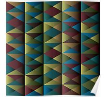 Triangle Shade Pattern Poster