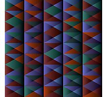 Triangle Shade Pattern Var. 1 Photographic Print