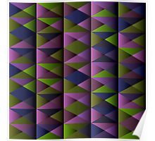 Triangle Shade Pattern Var. 3 Poster