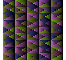 Triangle Shade Pattern Var. 3 Photographic Print