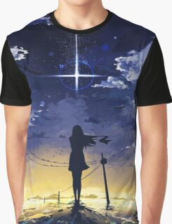 Girl Looking At The Night Sky Graphic T-Shirt