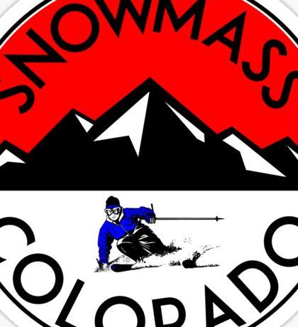 SKI SNOWMASS COLORADO Skiing Ski Mountains Sticker