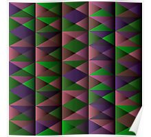 Triangle Shade Pattern Var. 4 Poster