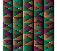 Triangle Shade Pattern Var. 5 Photographic Print