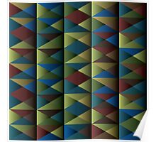 Triangle Shade Pattern Var. 6 Poster