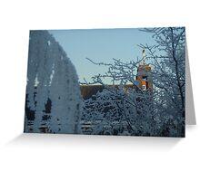 Winter scene with church II Greeting Card