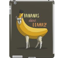 Bananas About Llamas! iPad Case/Skin