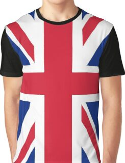 British Union Jack flag - Authentic version (Duvet on white background) Graphic T-Shirt