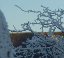 Winter scene with church II Sticker