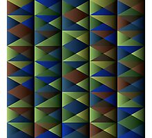 Triangle Shade Pattern Var. 7 Photographic Print
