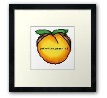 Yorkshire Peach Framed Print