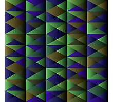 Triangle Shade Pattern Var. 8 Photographic Print
