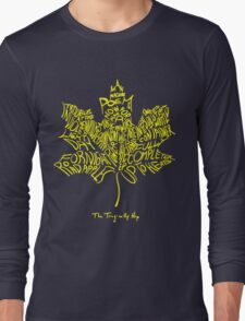THE TRAGICALLY HIP SUMMER TOUR 2016 edition typography Yellow Long Sleeve T-Shirt