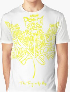 THE TRAGICALLY HIP SUMMER TOUR 2016 edition typography Yellow Graphic T-Shirt