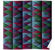 Triangle Shade Pattern Var. 10 Poster