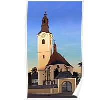 The village church of Sankt Oswald bei Haslach | architectural photography Poster