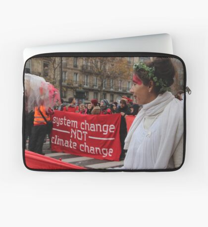 System Change Not Climate Change Laptop Sleeve