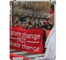 System Change Not Climate Change iPad Case/Skin
