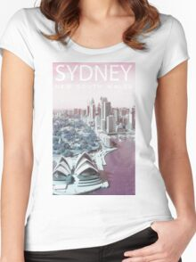 ColorCity: Sydney NSW Women's Fitted Scoop T-Shirt
