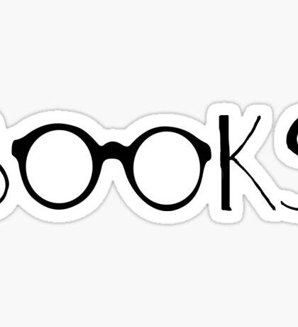 Books and Glasses Sticker