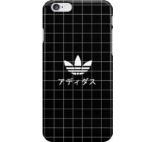 Adidas in Japanese Black Grid iPhone Case/Skin