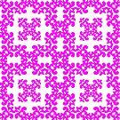 Pink Damask Pattern by Toby Davis