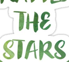 Rattle the Stars watercolor Sticker