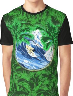 Tropical Surfer Graphic T-Shirt
