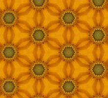 yellow flower pattern Sticker