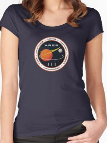 ARES 3 Mission Patch (Clean) - The Martian Women's Fitted Scoop T-Shirt