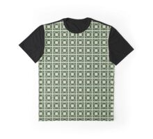 Abstraction #068 Pattern Green and White Blocks Graphic T-Shirt