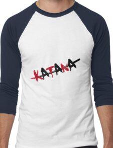 Katana Black and Red Men's Baseball ¾ T-Shirt