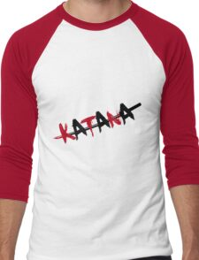 Katana Black and Red Men's Baseball ¾ T-Shirt