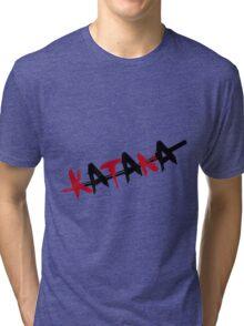 Katana Black and Red Tri-blend T-Shirt