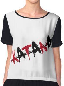 Katana Black and Red Chiffon Top