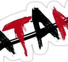 Katana Black and Red Sticker