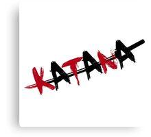 Katana Black and Red Canvas Print