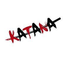 Katana Black and Red Photographic Print
