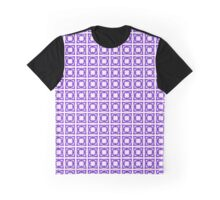 Abstraction #069 Pattern Purple and White Blocks Graphic T-Shirt