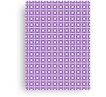 Abstraction #069 Pattern Purple and White Blocks Canvas Print