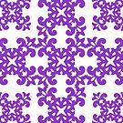 Violet Damask Pattern by Toby Davis