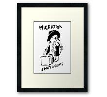 Migration Is Not A Crime - Banksy Framed Print