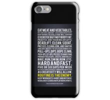 Fitness In 100 Words iPhone Case/Skin