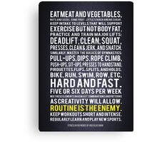 Fitness In 100 Words Canvas Print